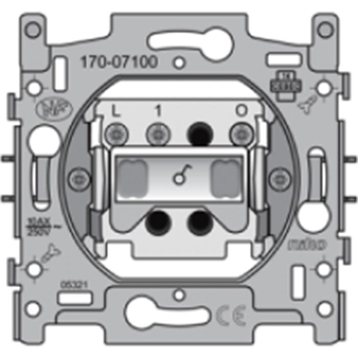 Elektro Dupont - Sockel Ausschalter einpolig mit Kontrolleuchte