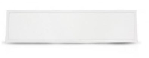 Plafonier LED 295 *1195 mm 38 W 4000°K 3400 lm - NON  dimmable - blanc  IP44