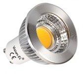 LED GU10  5W 3000K  WW    230V AC 80°     COB  440 lm dimmable