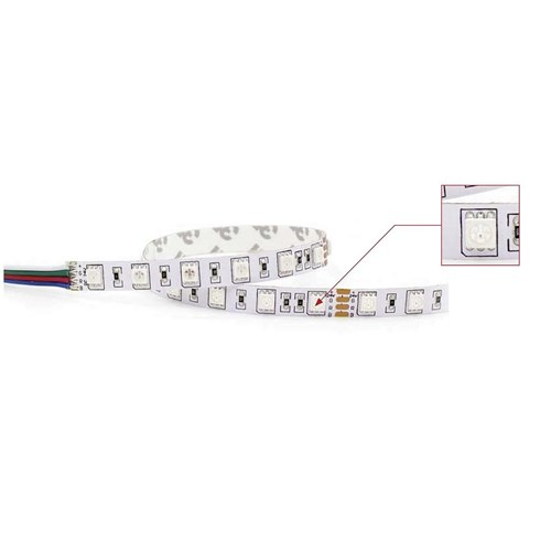 LED Strip RGB  IP20 4000K  15W/ 5m / 24V